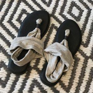 womens sanuk sling 2 sandals size 9